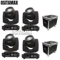 4 piezas + 2 flightcase 230 w 7r Zoom cabeza móvil haz de luz Lira lavar equipos de DJ 16 prisma Gobo DMX haz 7r etapa 230 Disco de luz