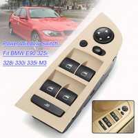 Autoleader coche ventana delantera izquierda interruptor de conmutación unidad espejo interruptor Panel de Control unidad con marco para BMW Serie 3 E90 m3