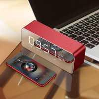Bluetooth reloj de alarma de Metal Digital Radio FM pantalla LED Despertador electrónico función casa Mini relojes de alarma