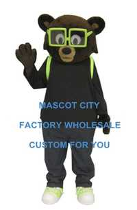 Gafas oso alumno Mascota disfraz adulto tamaño estudiante Mascota carnaval fiesta Cosplay disfraces traje SW1129