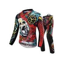 SCOYCO Motocross Racing Suit Motocross MTB DH MX Racing Jersey + Hip Pads pantalones ropa de motocicleta conjunto motocicleta Racing Gear