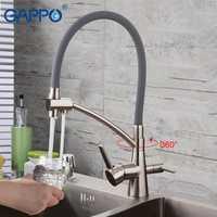 GAPPO cocina grifos de latón fregadero filtro grifo de cocina grifo de agua de beber agua del grifo torneira para cozinha