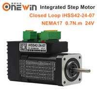 JMC NEMA17 integrado de bucle cerrado paso a paso Motor 24 V 0.7Nm 2 Fase IHSS42-24-07 paso a paso híbrido servo motor