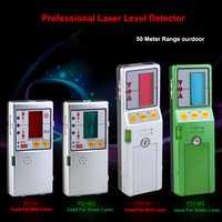 Detector automático de nivel láser rojo y verde de alta precisión 50 m para nivel láser