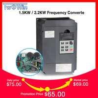 Twowin1.5KW/2.2KW 220 V-Fase de entrada del inversor VFD 3 Fase de salida de convertidor de frecuencia ajustable velocidad de 1500 W 220 V inversor