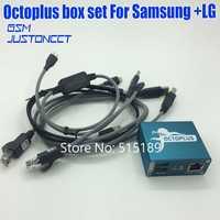 100% Original de 2019 nuevo pulpo/caja de Octoplus caja para SAMSUNG para Lg + 5 Cables para SAM desbloquear Flash reparación de teléfono móvil