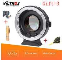 VILTROX EF-M2 0.71x electrónico enfoque automático reductor Speed Booster Turbo adaptador para lente Canon a M4/3 Cámara GH4 GH5 GF6 GX7 OM-D