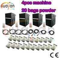 4 unids/lote + 20 bolsas de polvo profesional dmx etapa frío chispa máquina de fuente de titanium máquina de polvo para la boda