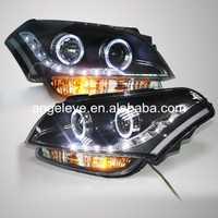 2011-2013 año para Kia Soul faros lámpara de cabeza LED con Angel Eye LF
