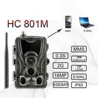 HC801M 2G caméra de piste de Chasse 12MP 1080P 940nm IP65 MMS caméra de faune cerf alimentation Photo pièges Vision nocturne chasseurs Chasse