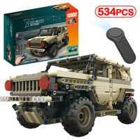 LegoINGLY Control remoto militar tanque Armado Alemán Ww2 ejército Hummer bloques de construcción Technic ladrillo Motor eléctrico RC Kits chico juguete