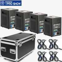 4 piezas frío fuegos artificiales chispa máquina de fuente de Control remoto inalámbrico Dmx de la etapa de Control de Pyro efecto proyector para boda 1 vuelo caso