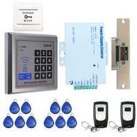 Lleno a estrenar tarjeta RFID puerta código Control DE ACCESO kit sistema puerta cerradura eléctrica + Control remoto en el envío libre