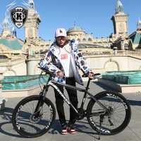 Haute qualité 26 pouces vélo en acier 21 vitesses en aluminium cadre VTT planche à roulettes pédale huile ressort amortisseur double disque soutien-gorge
