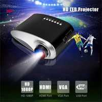 Mini proyector LED portátil de cine en casa proyector de vídeo Home Cinema Multimedia TV Laptops Smartphones RD-802 negro