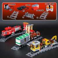 En stock genuino 898 Piezas de serie legoinglys tren rojo bloques de construcción ladrillos juguetes educativos regalos de navidad