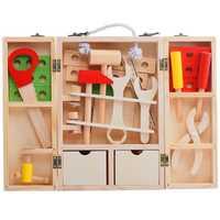 Montessori materiales Montessori de madera juguetes de madera didácticos y educativos de madera herramientas Montessori práctica vida herramientas juguetes de Montessori para 3 años UC1565H