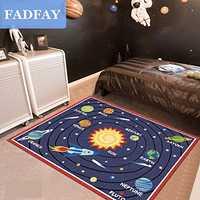 Diseñador Sistema Solar Sala Tapetes S, único estrellas niños dormitorio Tapetes, moderno dibujos animados planeta niños Alfombras