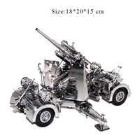 3D Metal rompecabezas modelo Alemania 88 de defensa Anti-tanque de artillería rompecabezas niño adulto juguetes de colección de regalos de navidad