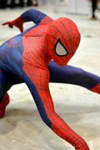 El increíble patrón de Spiderman Zentai trajes de alta calidad de cuerpo completo LICRA Spandex superhéroe Spider-Man disfraz de Halloween