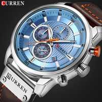 Reloj marca Relojes Hombre con cronógrafo deportivo resistente al agua reloj hombre relojes militar de los hombres de lujo reloj analógico de cuarzo