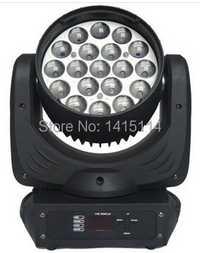 2 piezas de fuente de luz led de 19X12 w rgbw led zoom mover la cabeza de luz de la etapa de iluminación, dj, barato para la fiesta, bar