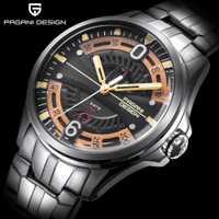 2019 reloj de los hombres de marca PAGANI diseño reloj de cuarzo militar deportes de acero inoxidable reloj impermeable de los hombres Relogio reloj