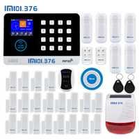 LM101.376 WIFI GSM hogar sistema de alarma de seguridad con 2,4 pulgadas TFT Touch Panel de Control de la aplicación RFID tarjeta inalámbrica de casa inteligente ladrón