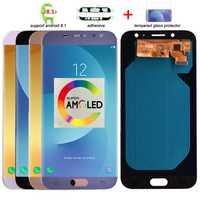 100% Original Super Amoled para Samsung Galaxy J7 Pro 2017 J730 J730F pantalla LCD pantalla táctil digitalizador Asamblea reemplazo lcd