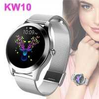 Kw10 mode montre intelligente femmes belle Bracelet moniteur de fréquence cardiaque surveillance du sommeil Smartwatch connecter Ios Android Pk S3 bande