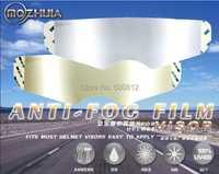 Exclusivo primer lente anti-niebla permanente de casco de alta gama parche de lámina para cascos arai sol sbk hjc visor