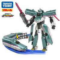 Takara Tomy Plarail Shinkansen Shinkarion E5 Hayabusa deformación Robot DXS01 tren de juguete nuevo