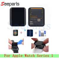 Para Apple Watch serie 1 Pantalla LCD digitalizador de Pantalla táctil de 38mm/42mm Pantalla de reemplazo para Apple Watch LCD + Vidrio Templado