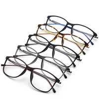 Montura de gafas ópticas de titanio para hombre 2018 nueva miopía cuadrada de cristal de ojos prescripción gafas coreanas sin tornillos