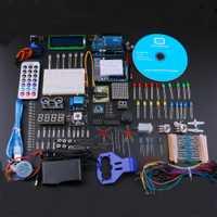 El mejor bricolaje Kits de iniciación para Arduino Uno R3 electrónica DIY kit con el Tutorial/Fuente de alimentación Kit de aprendizaje de enchufe de la UE