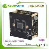 Hi3516A + Sony IMX291 60fps velocidad de Marco Starlight IP Módulo de cámara CCTV POE Video Surveillace Board H.265 H.264 MJPEG Onvif