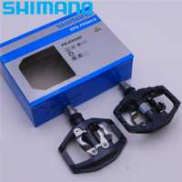 SHIMANO PD EH500 doble cara plataforma/Clipless pedales SPD con cornamusa SM-SH56 Original PD-EH500