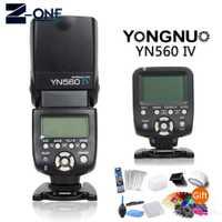 Yongnuo YN560-TX controlador de flash inalámbrico + flash YN560IV speedlite para Canon 77D 750D 760D 5D 60D 5D2 6D 7D 400D