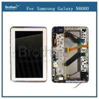 Para Samsung Galaxy Tab 10,1 N8000 N8010 pantalla LCD con marco pantalla táctil Digitizer Sensor Asamblea N8000 LCD Replalcement