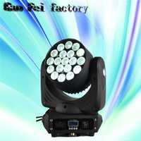 19x12 W lavado/zoom LED rgbw 19*12 W 16 canales DMX512 luz principal móvil luz de la etapa profesional y DJ/Party/stage Iluminación