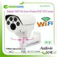 H.265 5MP Starlight 10X Zoom de 5-50mm de Wifi IP PTZ cámara de red POE cámara inalámbrica Sony IMX335 Señor onvif/RTSP de grabación de Audio