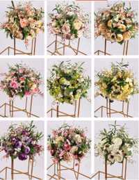Bola de seda Flowe Rack para central de la boda casa decoración partido suministros DIY plomo Flor del arte 9 Color