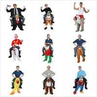 Divertido Cosplay Donald trump pantalones Halloween fiesta de disfraces caballo ropa llevar de vuelta novedad mascota juguetes al aire libre