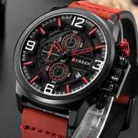 CURREN cronógrafo deportes hombres relojes de reloj de pulsera de cuero casuales de la moda de los nuevos hombres reloj de pulsera hombre reloj de calendario