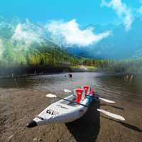 Aqua Marina VAPEUR ST-312/412 gonflable kayak canoë bateau pvc dériveur radeau PVC Kayak DWF de plancher pour professionnel sport touring