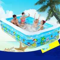 2017 Bebé y niños piscina inflable gran familia piscinas océano bola piscina adultos bañera engrosada