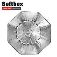 Ojos Falcon portátil plegable Octagon Softbox/60/80/90/110 cm paraguas difusor Reflector para el estudio de la foto flash Speedlite