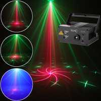 SUNY 16 RG patrones de luz láser LED azul luz de la etapa de sonido activado Gobo proyector para mostrar Bar Club discoteca DJ fiesta en casa (Z16RG)