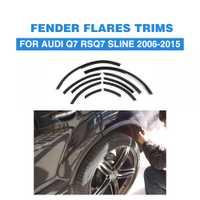 Para Audi Q7 SQ7 RSQ7 Q7 Sline 2006-2015 estrecha franja rueda arco labio recorte cubierta Fender bengalas PU mate/negro brillante