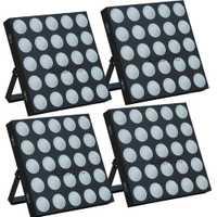 4 uniunids/lote Panel matriz haz 25 W 10 cabeza móvil lavado Led Barra de escenario iluminación RGB 3IN1 Lumiere mostrar Luz